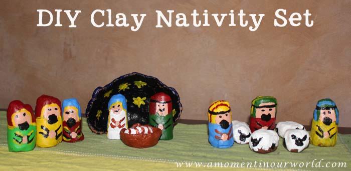 Clay Nativity Scene