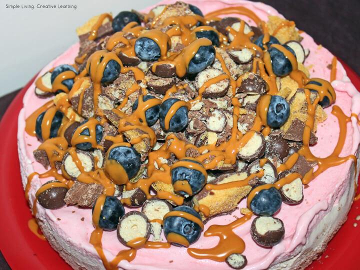 Triple Layer Ice Cream Cake