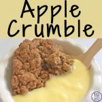 This apple crumble is easy to make and so very delicious, especially on a cool winter's night.
