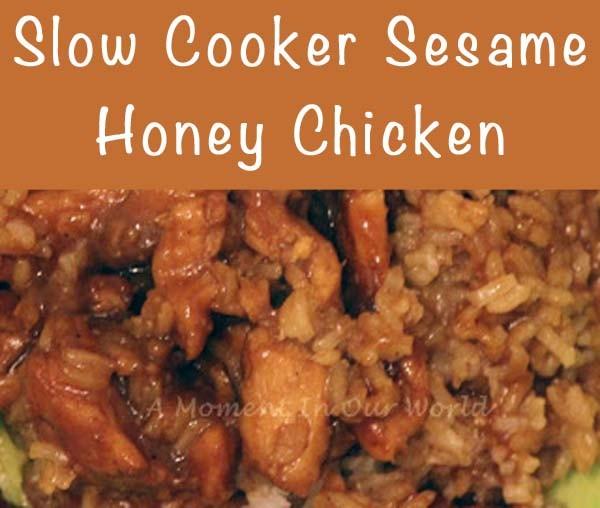 Slow cooker honey sesame chicken 1