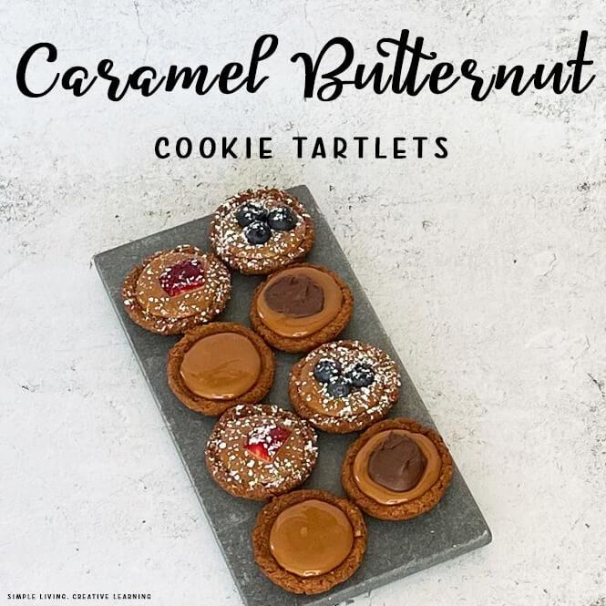 Caramel Butternut Cookie Tartlets