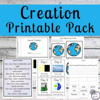 This Days of Creation Printable Pack will help children learn about how God created the world in six days and rested on the seventh.