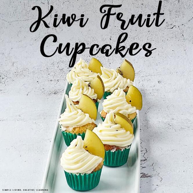 Kiwi Fruit Cupcakes
