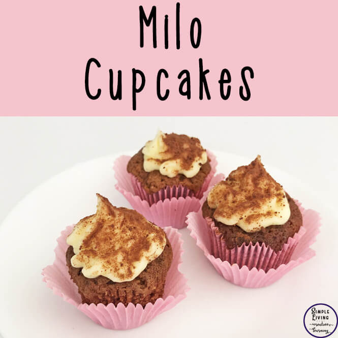 Who doesn't love milo? It is a staple in our house, used to top many desserts and cereals, and in these delicious milo cupcakes with condensed milk icing.