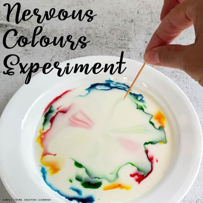 Nervous Colours ~ Colour Changing Milk Experiment