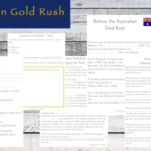 This is a mini unit study on the Australian Gold Rush and the Eureka Stockade together.