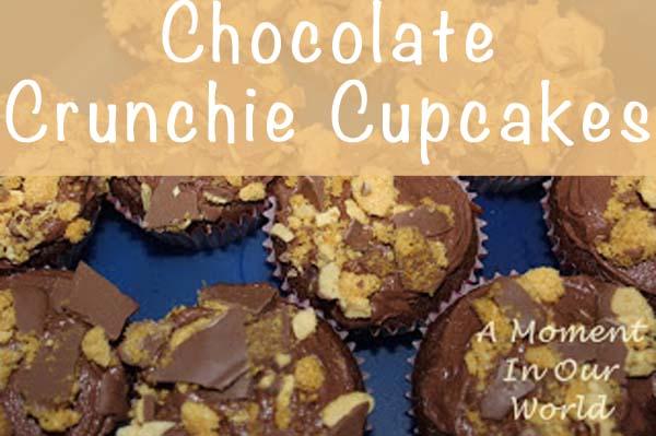 Chocolate Crunchie Cupcakes