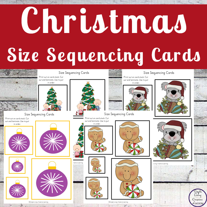 This mega pack of Christmas Size Sequencing Cards is awesome. With over 22 sets of size sequcing cards, they will keep the kids entertained for ages.