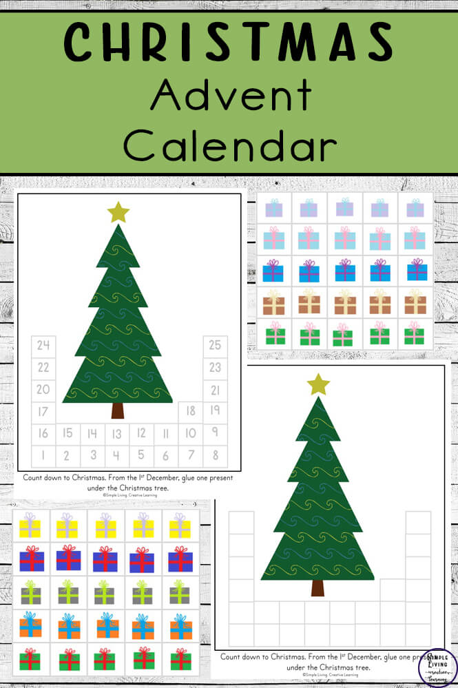 Printable Christmas Tree and Presents Advent Calendar