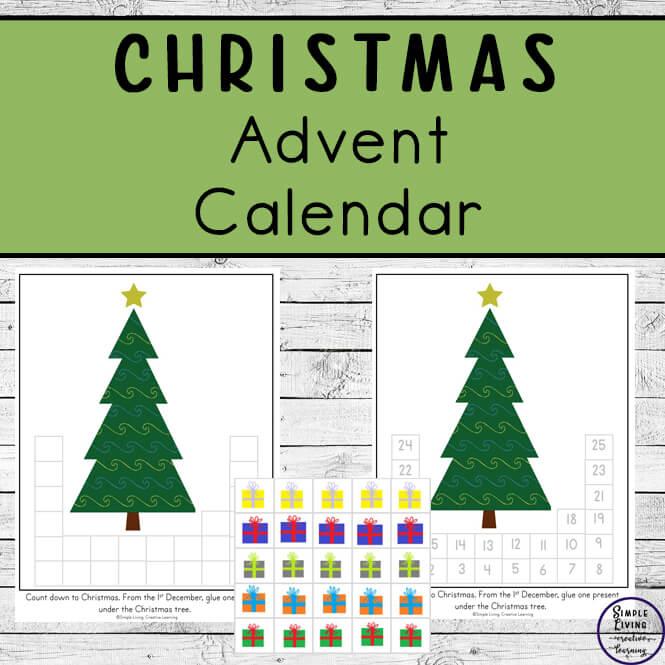 Printable Christmas Tree and Presents Advent Calendar