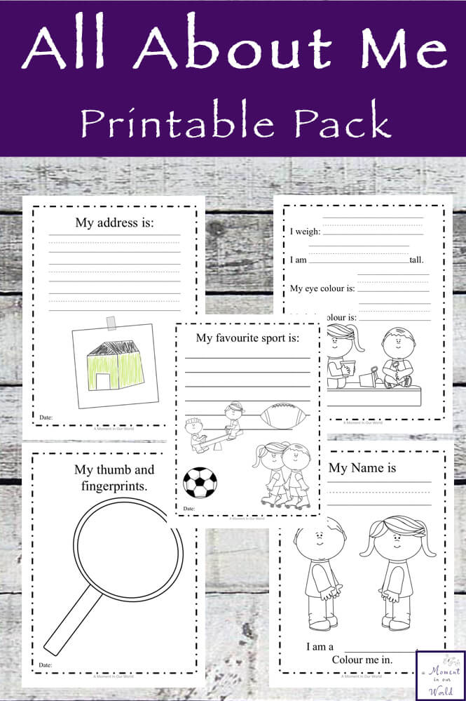 This All About Me Printable Pack is a great way to begin the school year, though it can be used any time of the year.