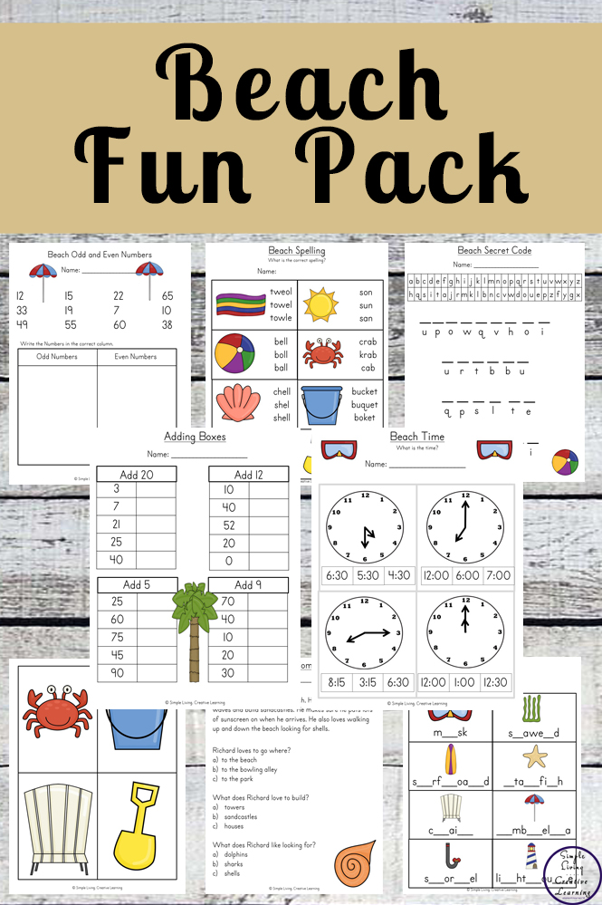 The beach is such an enjoyable place to visit, spending time with family, to cool down or even for a party. This Beach Fun Pack is a great way to incorporate this fun theme into learning for young children.
