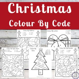 Colouring in is fun and these Christmas Colour By Code pages will help your child reinforce some basic math and language arts skills in the process.