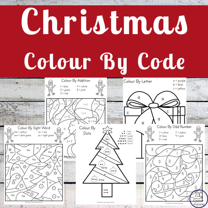Christmas Colour By Code