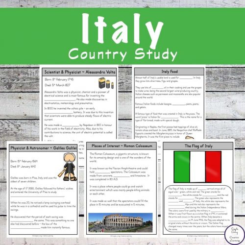 Take a fascinating journey to Italy with this exciting Italy Study and learn more about the people, food and culture along the way.