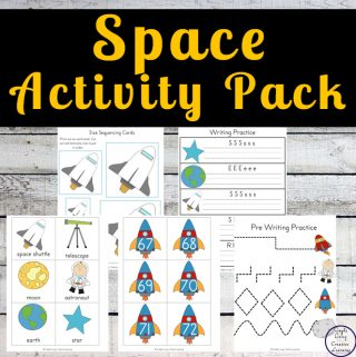 This fun Space Activity Pack is aimed at children ages 2 through 10 and contains a variety of math and literacy activities.
