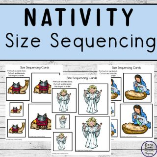 This cute Nativity Size Sequencing set with 15 different sets, is great for little ones to learn about sizing and the true meaning of Christmas.