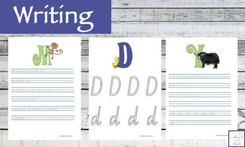 This Alphabet Mini Study is a great way to introduce kids to the letters of the alphabet and to help them practice letter formation as well.