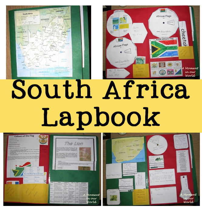 We enjoyed our time studying South Africa with this lap book and yummy meal.