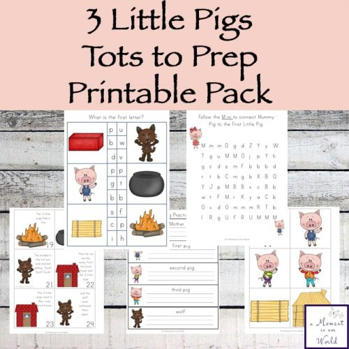 This Three Little Pigs Tots to Prep Pack is great for kids ages 2 - 7.