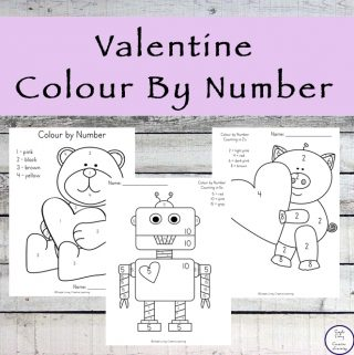 Have fun colouring and decorating cute pictures this Valentine's Day with this fun Valentine Colour by Number printable pack!