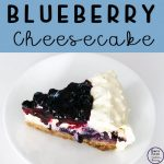 This baked blueberry cheesecake is just melt-in-your-mouth delicious and would be a wonderful addition to a family meal, or party.
