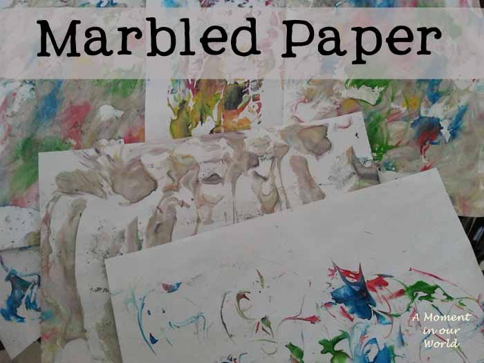 Marbled Paper - 2 ways!!