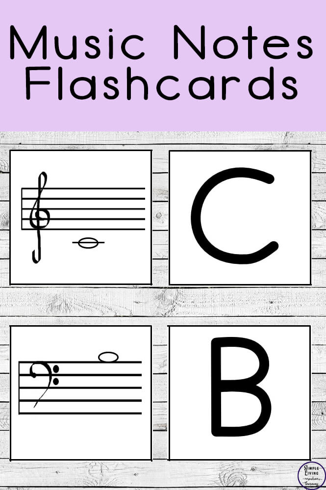 image relating to Printable Music Notes Flashcards called Songs Notes Flashcards - Basic Residing. Innovative Mastering