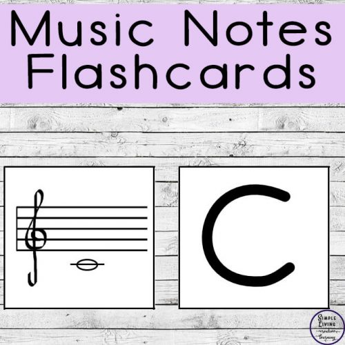 These Music Notes Flashcards are a great way to teach children the basics of music.