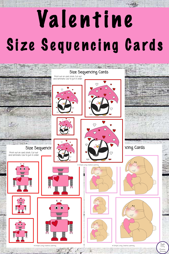 picture regarding Printable Sequencing Cards named Cost-free Printable Valentine Sizing Sequencing Playing cards - Basic