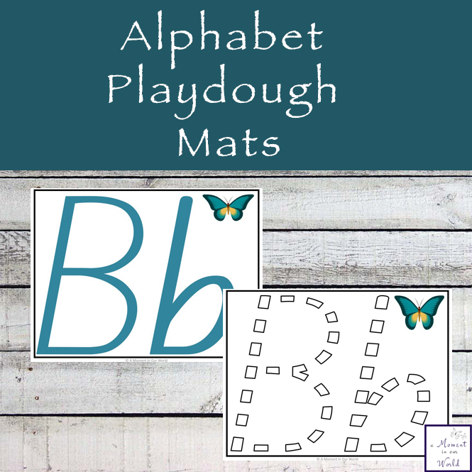 These Alphabet Playdough Mats are a great way to introduce children to writing the letters of the alphabet. These are in the NSW, Australian Font.