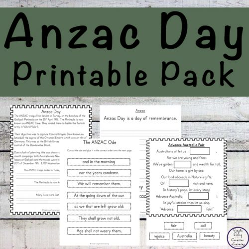 This Anzac Day printable pack introduces children ages 5 - 10 to what happened to the Australian and New Zealand forces in their battle at Gallipoli during World War I.