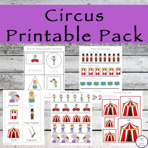 This Circus Activity Pack is aimed at young children ages 4 to 10 and contains lots of fun math and literacy activities all with the exciting Circus theme.