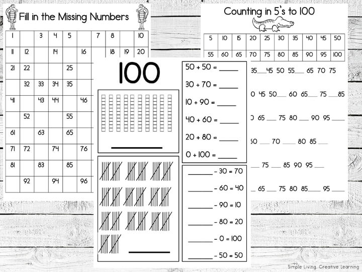 Counting to 100 Printable