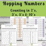 Skip counting is a good skill for kids. It is used as a basis for learning multiplication as well as telling the time. This Hopping Numbers Printable Pack is a great way to practice counting in 2's, 3's, 5's and 10's.