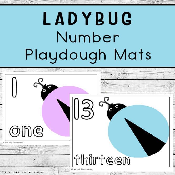 Ladybug Number Mats