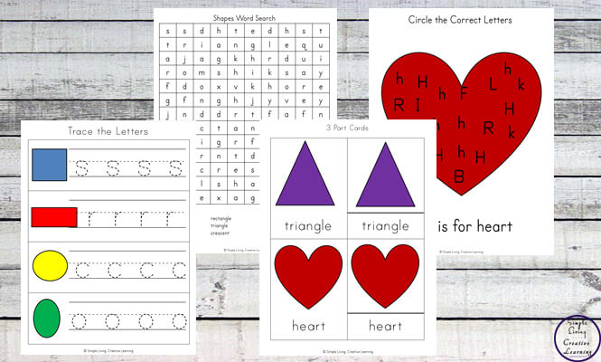 Aimed at young children, this 70-page Shape Printable Pack is a great way to introduce a variety of different 2d shapes to them.