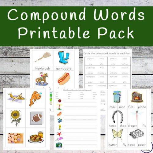 This fun Compound Words printable pack is a great way for children to enjoy learning over forty different compound words.