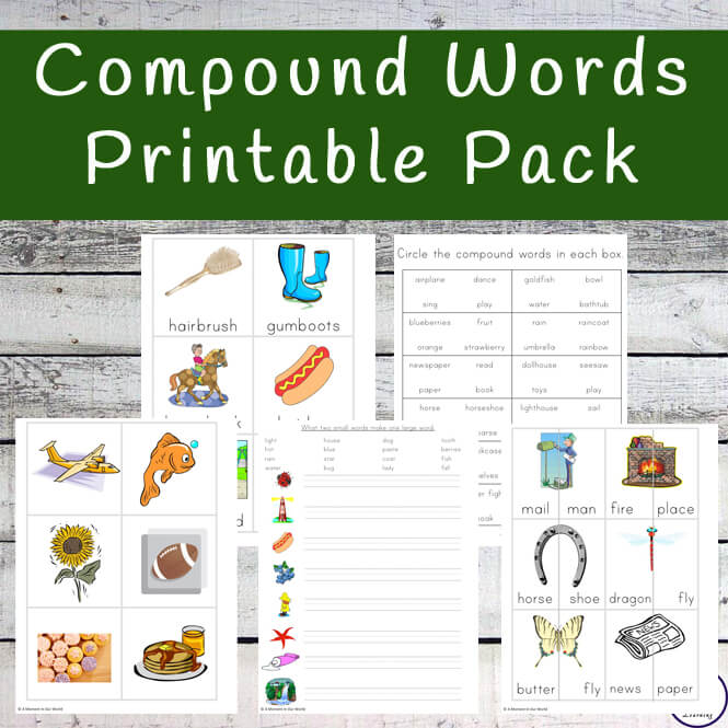 Compound Words Printable Pack