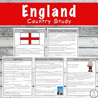 Take a fascinating journey to England with this exciting England Study and learn more about the people, food and culture along the way.