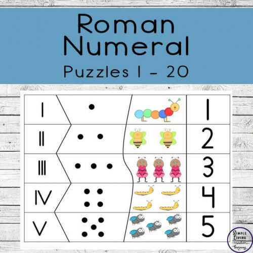 Want a fun way to learn Roman Numerals from one through twenty? Then you have to try these fun, four-piece Roman Numeral Puzzles.