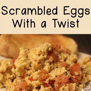 These yummy scrambled eggs with a twist, are a great way to start the day.