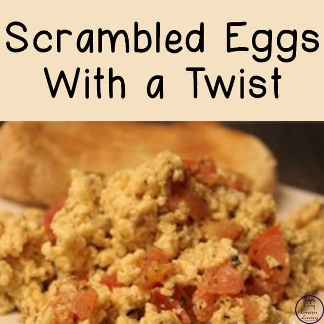 Scrambled eggs with a twist