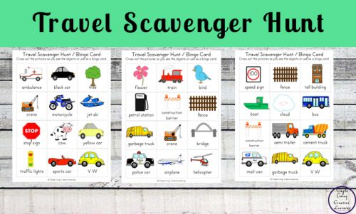 This Transport Travelling Pack contains nine different printable activities that can be used while travelling, or while completing a travel themed unit.