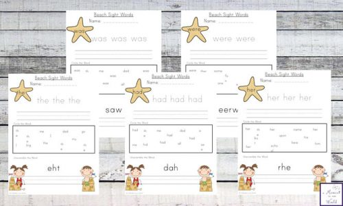 Learning sight words is hard work, so make it fun with this exciting Beach Sight Words Printable Pack. This is a fun way for children to learn sight words 100 of the most popular sight words.