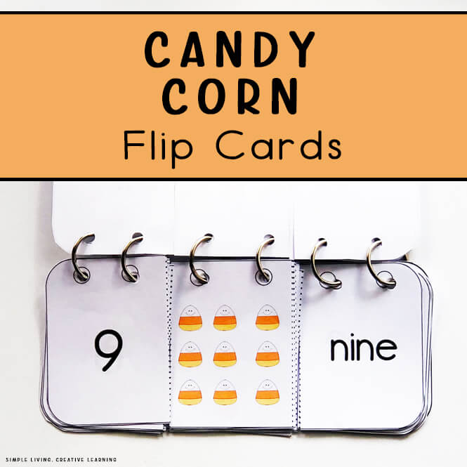 Candy Corn Flip Cards
