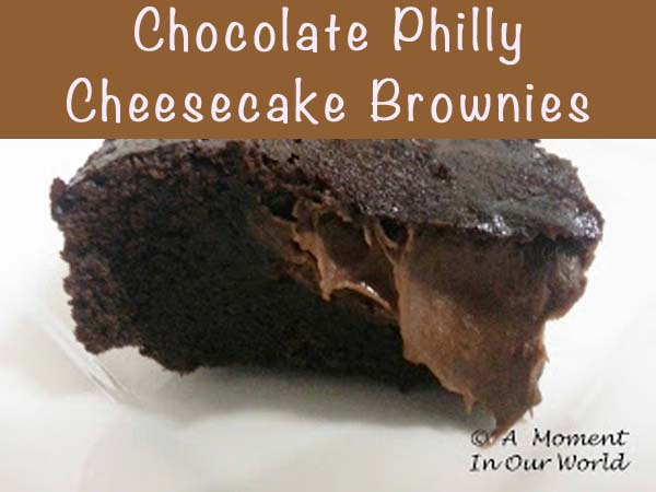 Chocolate Philly Cheesecake Brownies