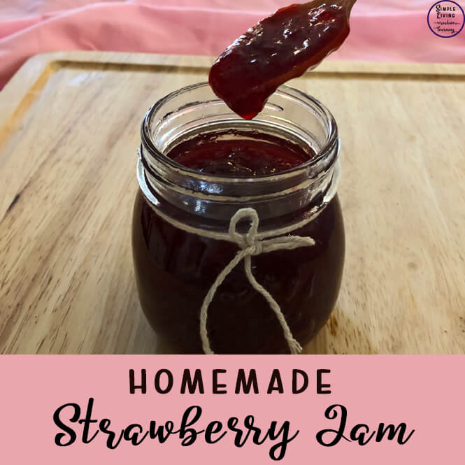 This strawberry jam has only three ingredients and is quite simple to make and tastes absolutely amazing, especially on warm, fresh bread.