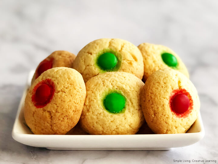 M and M Christmas Cookies