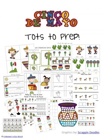 Cinco De Mayo Tots to Prep Pack